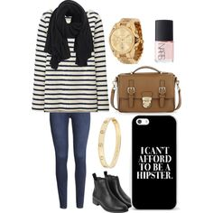 A fashion look from September 2014 featuring Uniqlo t-shirts, H&M jeans and Monki boots. Browse and shop related looks.
