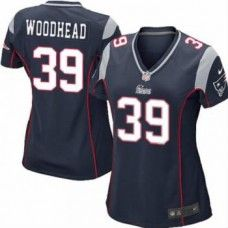 Women's Blue NIKE Elite    New England Patriots #39 Danny Woodhead Team Color   NFL Jersey