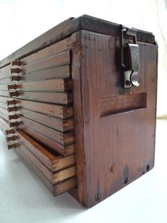 Rustic antique wooden chest/cigar drying box or trunk 1. $129.00, via Etsy.
