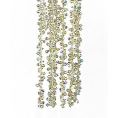Kurt Adler Gold and Irridescent Bead Christmas Tree Garland (9 feet) ** You can find more details at