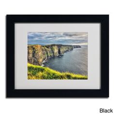 Pierre Leclerc 'Cliffs of Moher Ireland' Framed Matted Art - Overstock™ Shopping - Top Rated Trademark Fine Art Canvas