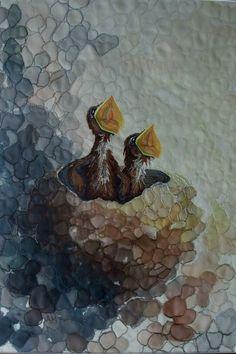 Beautiful quilt by Annemieke Mein. swallowsampa