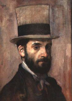 Portrait of Leon Bonnat-Edgar Degas...in #brown