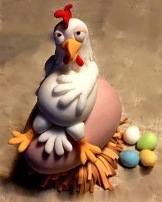 Trendy farm animal art for kids chicken crafts ideas Polymer Clay Animals, Fimo Clay, Polymer Clay Projects, Polymer Clay Creations, Polymer Clay Art, Chicken Cake, Chicken Crafts, Fondant Animals, Clay Birds