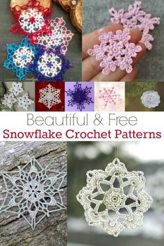 Whether you use snowflakes to decorate your front window, the Christmas tree, or even to use as coasters, snowflake crochet patterns are sure to be perfect! Free Crochet Snowflake Patterns, Christmas Crochet Patterns, Holiday Crochet, Crochet Snowflakes, Crochet Flower Patterns, Crochet Christmas Decorations, Crochet Decoration, Crochet Ornaments, Crochet Christmas Wreath