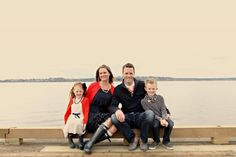 Great example of what to wear for family photos. Coordinating, not matching.