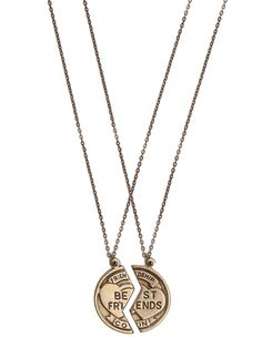 BFF Necklace Set me and my best friend need this @julieangland