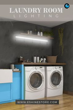 Most laundry rooms are very small and illuminated by a single fixture, which creates multiple shadows and illuminates poorly. With our battery-operated LED light bar, you can turn your Laundry Room into a bright and convenient space! Accent Lighting, Bar Lighting, Interior Lighting, Laundry Room Lighting, Kitchen Lighting, Laundry Room Design, Laundry Rooms, Battery Operated Led Lights, Led Light Kits