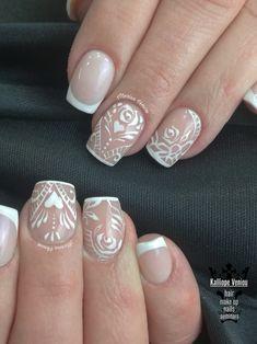 French nails with linear nail art  #nails #nailart #frenchnails #lineardesign #lovenails #nailaholic #nothingisordinary #nails2inpire #nailartist #marinaveniou #nailartseminars #trusttheexperts   #beautymakesyouhappy  www.kalliopeveniou.gr