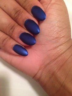 Matte blue Essie nails