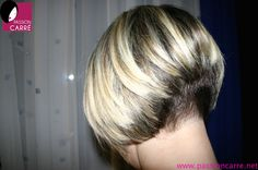 short stacked aline bob with short nape