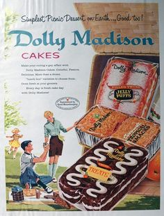 Dolly Madison Cakes ~ 1958