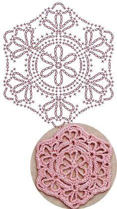 Transcendent Crochet a Solid Granny Square Ideas. Inconceivable Crochet a Solid Granny Square Ideas. Crochet Stitches Chart, Crochet Motifs, Crochet Quilt, Freeform Crochet, Love Crochet, Filet Crochet, Irish Crochet, Crochet Doilies, Hexagon Crochet Pattern