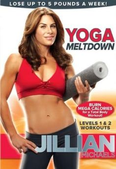 "Jillian Michaels: Yoga Meltdown - Jillian Michaels, winning trainer on NBC's The Biggest Loser,"" introduces a new yoga workout unlike any other. Combining hard-core yoga power poses with her dynamic training techniques, Jillian wil. - All product - DVD Yoga Fitness, Fitness Tips, Fitness Routines, Exercise Routines, Health Fitness, Jillian Michaels Yoga, Best Yoga Dvd, Beginner Yoga Workout, Yoga Workouts"