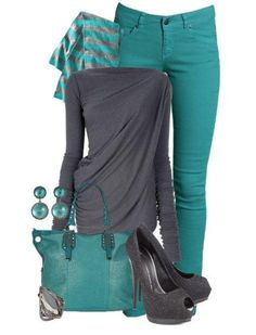 Wish - turquoise and gray, sub gray boots I have