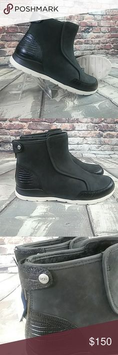 UGG Treadlite Leather Suede Ankle Boots UGG Treadlite Leather Suede Ankle Boots Size 8. New. Never worn. Fur lined inside. UGG Shoes Ankle Boots & Booties