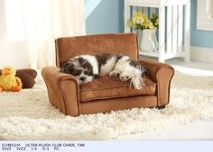 New! Ultra Plush Club Clubchair bed for small dogs or cats.