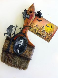 Halloween altered brush.
