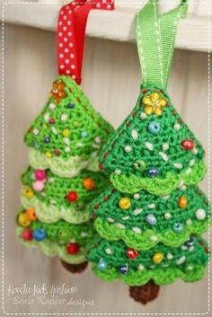 Crochet Christmas Trees by sandy