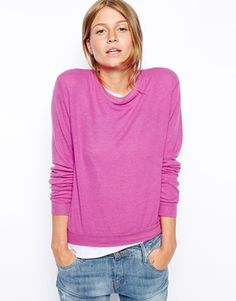 Enlarge ASOS Cropped Sweatshirt in Super Soft Touch Fabric