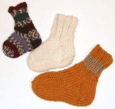 Free Knitting Pattern - Children's Socks & Booties: North Country Cotton Baby Socks