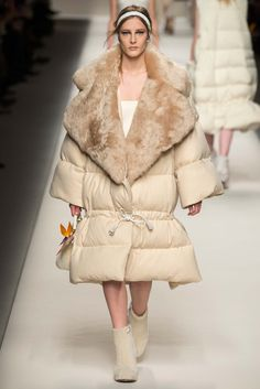 Fendi - Fall 2015 Ready-to-Wear - Look 49 of 52 A huge and fluffy coat