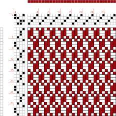 draft image: 4 schäftig mit 8 Karten 22, Lehr-Methode der Weberei, Ferdinand A. Langewald, 4S, 4T
