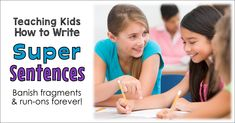 Fun sentence writing lessons and activities that will help your students learn to write longer, more interesting sentences. Banish run-on sentences and fragments forever! Freebies include in the post. Teaching Kids To Write, Student Learning, Writing Lessons, Kids Writing, Kindergarten Writing, Writing Process, Writing Ideas, Education Quotes For Teachers, Elementary Education