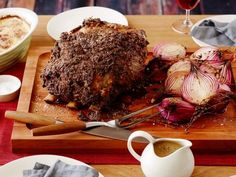 Get Roast Prime Rib of Beef with Horseradish Crust Recipe from Food Network