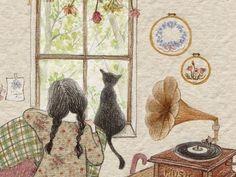 참 예쁜 방을 가지고 싶었습니다. 나무가 보이는 자그마한 창과 앉으면 포옥~~나를 감싸 줄 안락 의자,  옛스러운 축음기가 어울리는...그런 아늑한 방이면 얼마나 좋을까요.... 지금도....그 꿈은 여전히 현재진행형이랍니다....^^