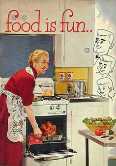 Vintage ad. Food is fun. Why, yes it is.  G;)