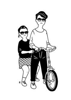 Illustration by Nimura Daisuke Line Illustration, Pattern Illustration, Character Illustration, Hipster Illustration, Ligne Claire, Photocollage, Illustrations And Posters, Grafik Design, Line Art
