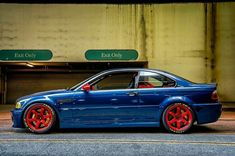 "BMW E46 M3 Hyper blue. The ""four pipe M"" is still one of our favourites at Repdek. #fortheloveofmachines"