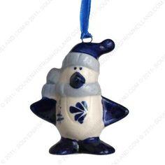 Penguin - Christmas Penguin Delft Blue