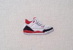 Air Jordan 3 Fire Red brodée