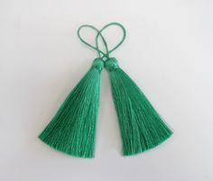 Emerald Green Long Tassel Silk Dangling Trim Fringe