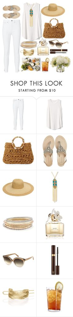 """""""The Light People"""" by pulseofthematter ❤ liked on Polyvore featuring rag & bone, Gap, Cappelli Straworld, Antik Batik, Steve Madden, Kendra Scott, Marc Jacobs, Tom Ford, Chloe + Isabel and Schott Zwiesel"""