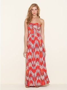 http://fbfanpages.us/pinnable-post/guess-adele-strapless-maxi-dress-chevron-pri/ An absolutely essential silhouette for the season, this floor-sweeping printed maxi dress defines summer chic!