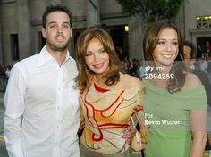 Actress Jaclyn Smith with her children (L-R) Gaston and Spencer Margaret attend the premiere of Columbia Pictures' Film 'Charlie's Angels 2: Full Throttle' at the Grauman's Chinese Theatre on June 18, 2003 in Hollywood, California. The Film will be released nationwide June 27, 2003