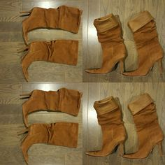 Charles David Suede Stiletto Boots Beautiful Charles David cognac suede stiletto heel boots. Slouchy shaft that can be rolled down for a super chic look. Boots have some wear on the tip of the front but are in great condition with TONS of stylish life left. No trades. Charles David Shoes Heeled Boots
