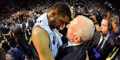 Gregg Popovich, l'entraîneur de San Antonio, a rendu un vibrant hommage au nouveau retraité Tim Duncan, dont il a partagé les dix-neuf ans de carrière sous le maillot des Spurs.