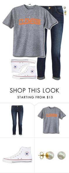 """""""Why is everyone leaving polyvore?"""" by evedriggers ❤ liked on Polyvore featuring Frame Denim, Converse and Majorica"""