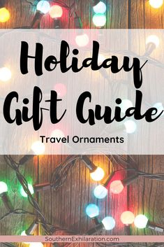 Reminense on past trips and get your wanderlust fix by decorating your Christmas tree with travel ornaments. #HolidayGiftGuide #Travel #Ornaments Holiday Gift Guide, Holiday Gifts, Best Travel Gifts, Globe Ornament, Ornaments, Best Stocking Stuffers, Gifts Under 10, Travel Themes, Travel Couple