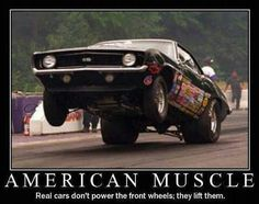 American Muscle My brother would give me his famous eye roll if I showed him this ;)