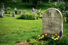 I visited the grave of Susan B. Anthony on 6/29/13 in Rochester, New York and here is one of my shots :)
