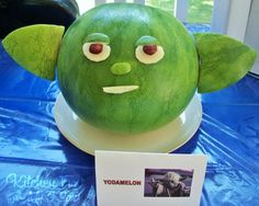 We came up witht his Yodamelon for my now 6 year old Star Wars birthday party yesterday. This was a big hit with the kids (and adults) and you will love how easy this is to make! In my opinion this is a must have for a Star Wars party! We found a good round …