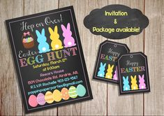 Printable Custom Easter Invitation Easter by PoppinPaperParties
