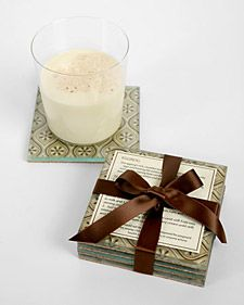 DIY Glass Coasters using Wrapping Paper or Craft Paper