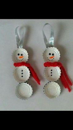 More homemade ornament ideas!
