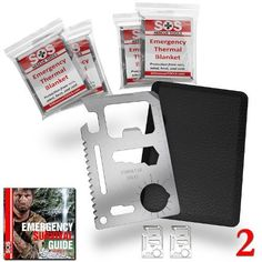 SOS Rescue Tools  11 in 1 Credit Card Survival Tool is the Ultimate Survival Tool Making it an Integral Part of Your Camping Gear 2 Pack *** You can get additional details at the image link.Note:It is affiliate link to Amazon.